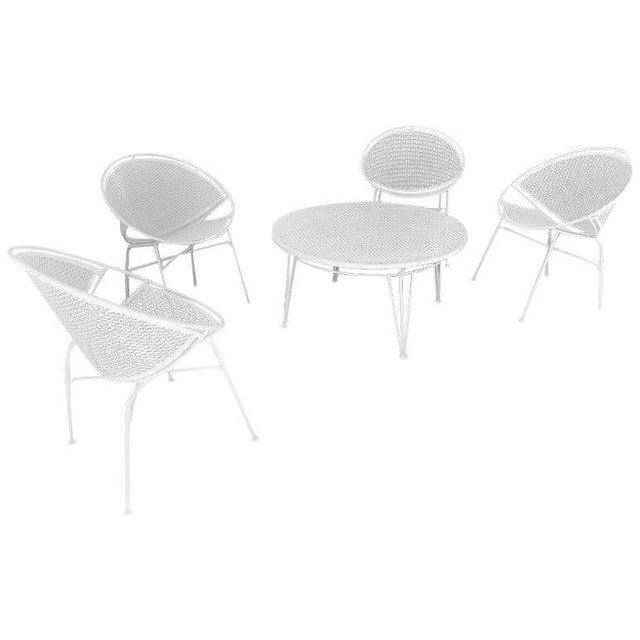 Tempestini Salterini 4 Radar Hoop Chairs and Cocktail Table - Set of 5 For Sale - Image 13 of 13