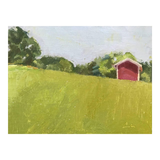 Red Barn Upstate - Original Oil Painting by Caitlin Winner For Sale