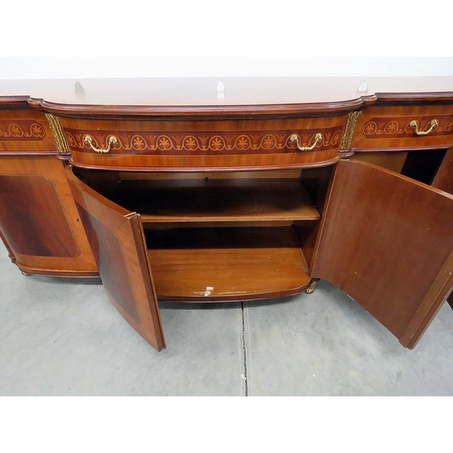 Decorative Crafts Regency Style Inlaid Sideboard For Sale - Image 9 of 13