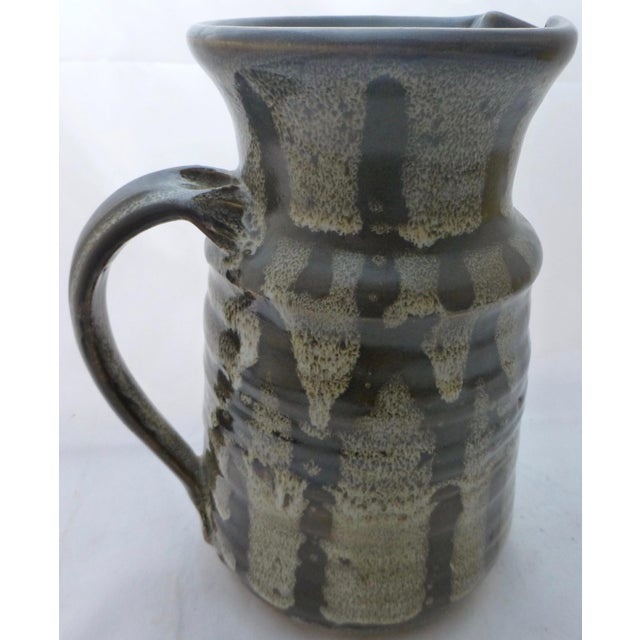 Mid-Century Studio Pottery Water Pitcher For Sale - Image 9 of 10