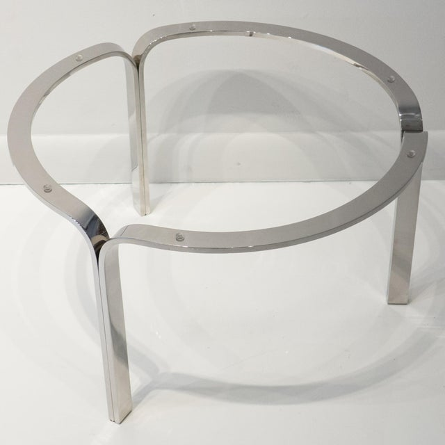 Glass Nicos Zographos Ribbon Steel Cocktail Table For Sale - Image 7 of 9