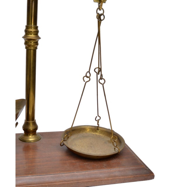 Merchant's Scale, England, Antique Brass For Sale - Image 10 of 11