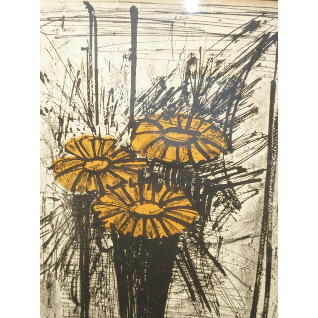 Vintage Mid Century Modern Style Lithograph by Famed Artist Bernard Buffet For Sale - Image 9 of 12