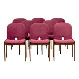 Image of Afra and Tobia Scarpa 121 Walnut Dining Chairs for Cassina, Set of 8 For Sale