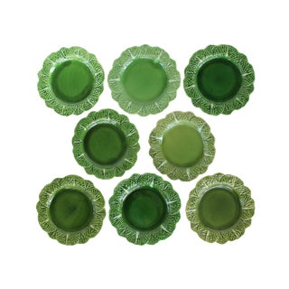 Green Cabbage Plates - Set of 8 For Sale
