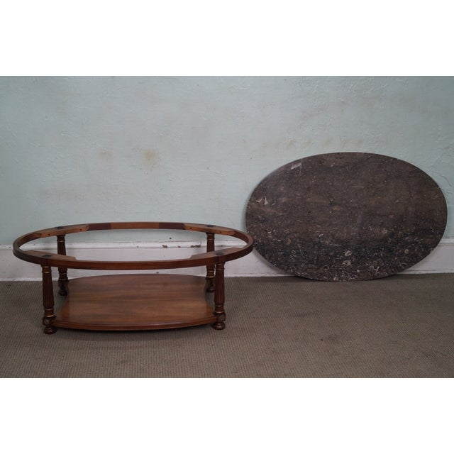 Brown Heritage French Empire Style Coffee Table For Sale - Image 8 of 10