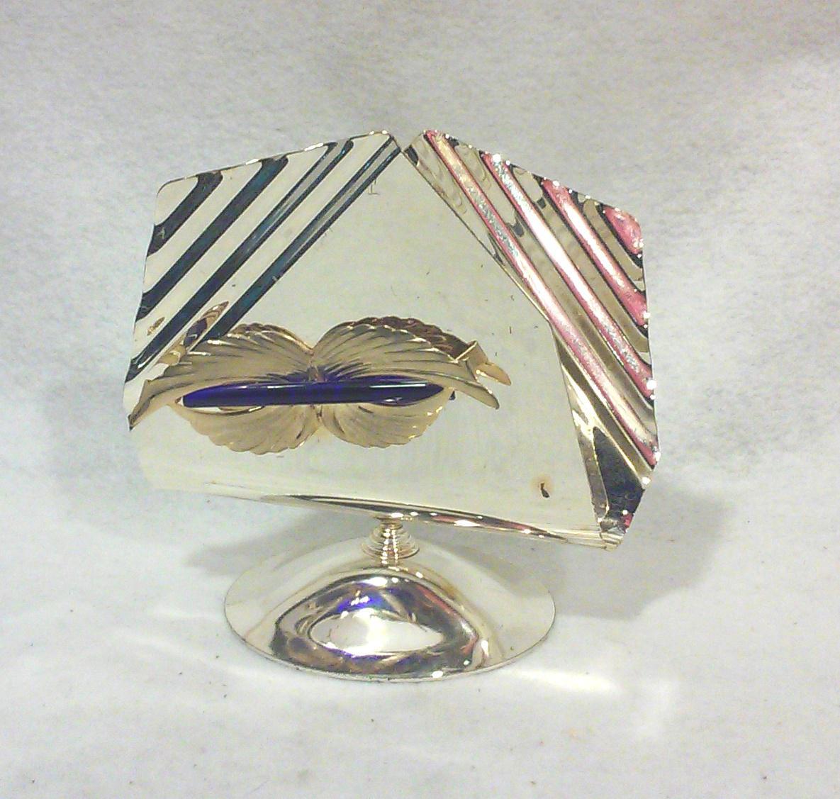 Italian Art Deco Silverplated Napkin Holder - Image 2 of 4  sc 1 st  Chairish & Italian Art Deco Silverplated Napkin Holder | Chairish