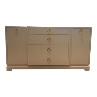 Bungalow 5 Pavel White Grasscloth Cabinet