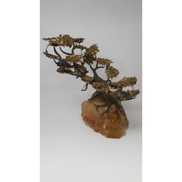 Stunning Japanese bronze sculpture on quartz. Very heavy, can be used as a bookend.