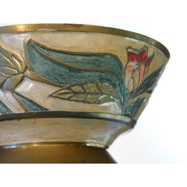 Floral Brass Bowl For Sale - Image 4 of 7