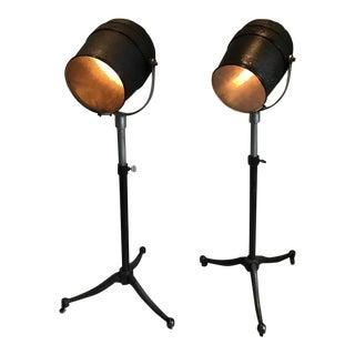 Vintage Pair of Studio Spotlight Floor Lamps