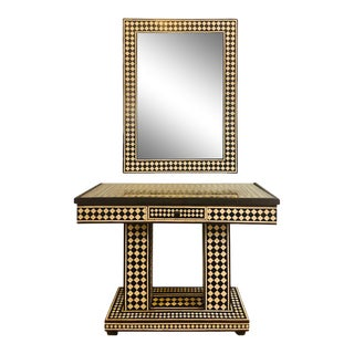 Art Deco Style Console Table and Mirror For Sale