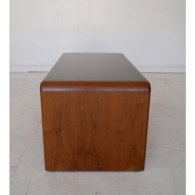 Mid-Century Teak Waterfall Edge Coffee Table - Image 8 of 11