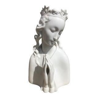 Late 19th Century Blanc De Chine Austrian Porcelain Princess Sculpture For Sale