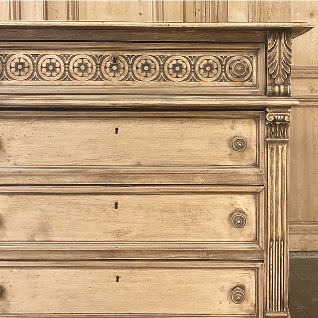 Antique Italian Renaissance Stripped Walnut Commode For Sale - Image 9 of 13