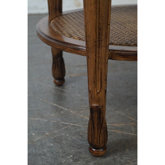 Brown Marble Top Side Table For Sale - Image 8 of 10