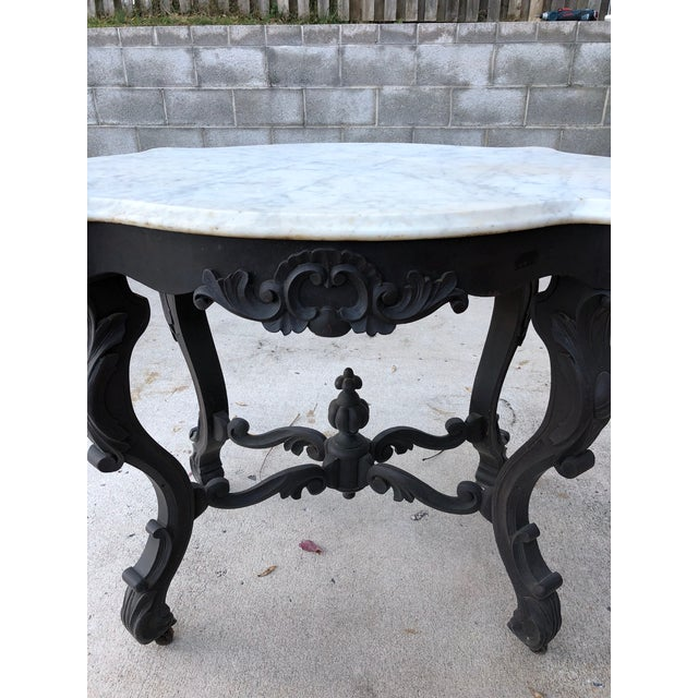 Marble 19th Century Traditional Marble Topped Table For Sale - Image 7 of 11