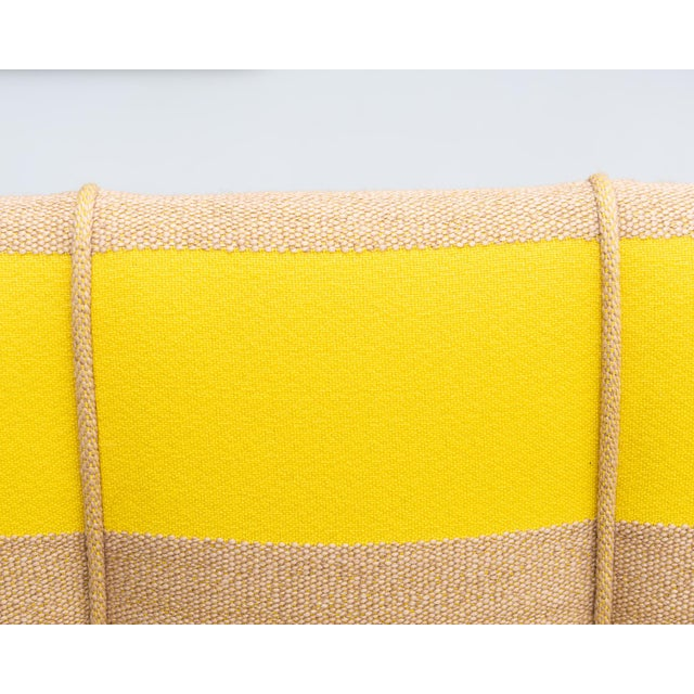Yellow French Lounge Chairs in Oak and Raf Simmons Fabric, 1940s For Sale - Image 8 of 11