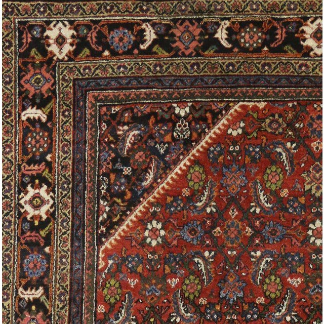Cabin Antique Persian Mahal Rug with Traditional Style For Sale - Image 3 of 6