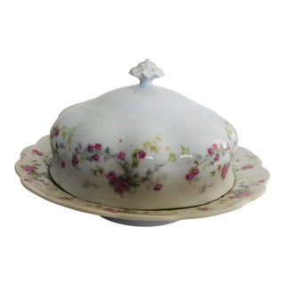 1900's m.z. Austria Fine Porcelain Lidded Butter Dish For Sale