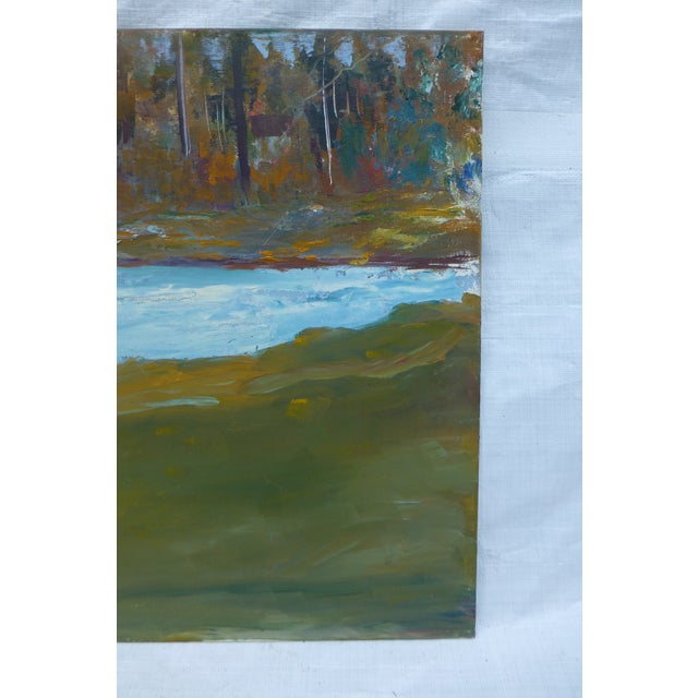 Abstract Impressionist Painting by h.l. Musgrave - Image 5 of 6