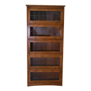 Crafters and Weavers Craftsman / Arts & Crafts Style Barrister Bookcase For Sale