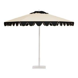 Espresso Ice 9' Patio Umbrella, Black and White For Sale