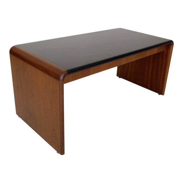 Mid-Century Teak Waterfall Edge Coffee Table - Image 1 of 11