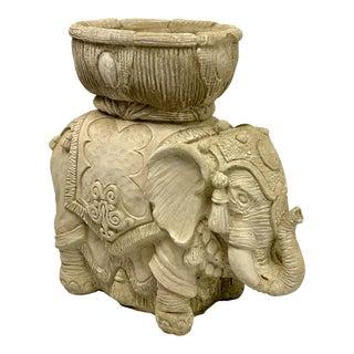 Cast Concrete Elephant Garden Planter For Sale