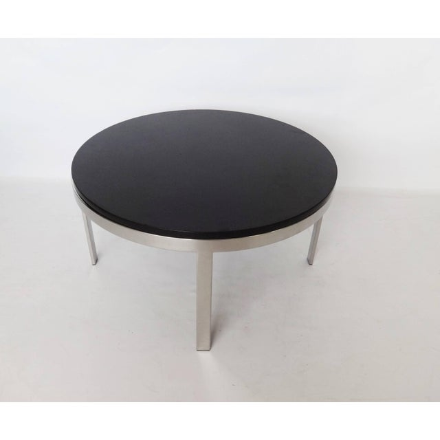 Milo Baughman Milo Baughman Style Chrome and Granite Top Coffee Table For Sale - Image 4 of 7