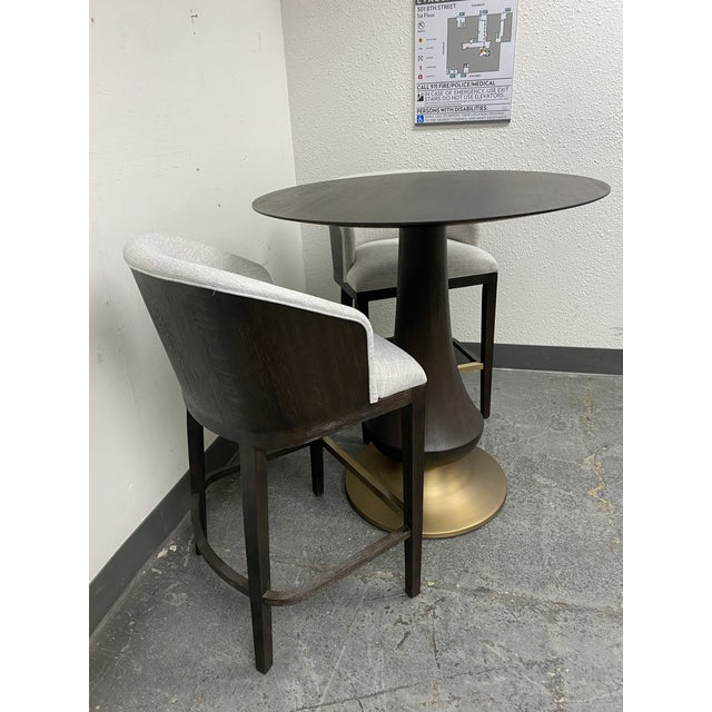 Brown Hooker Furniture Dining Room Curata Pub Table + Two Barstools Set For Sale - Image 8 of 13