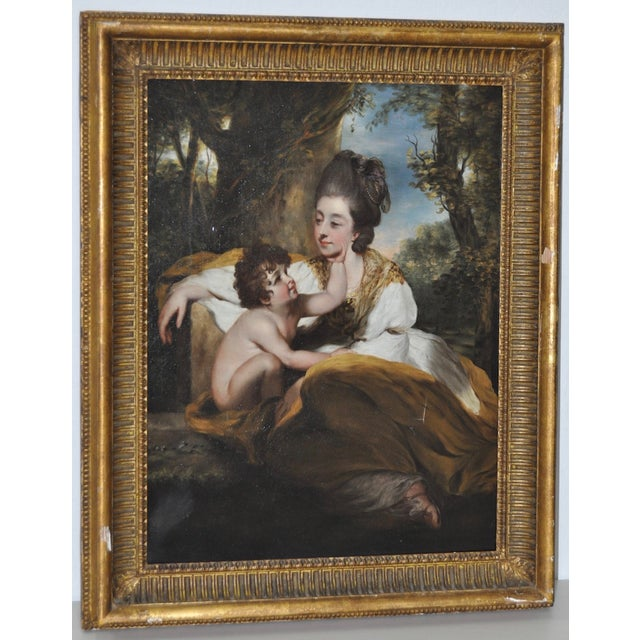 19th Century Mother & Child Oil Painting - Image 2 of 7