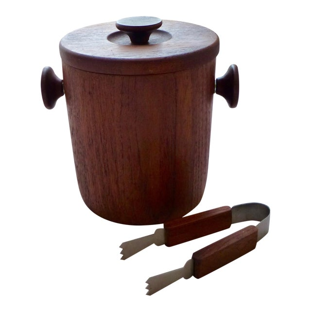 1950's Danish Modern Teak Ice Bucket For Sale