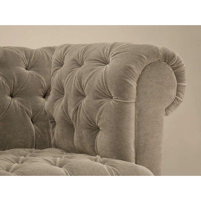 Chesterfield in Mohair with Solid Bronze Paw Feet For Sale - Image 10 of 10