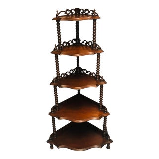 Vintage Victorian Corner Display Shelf For Sale