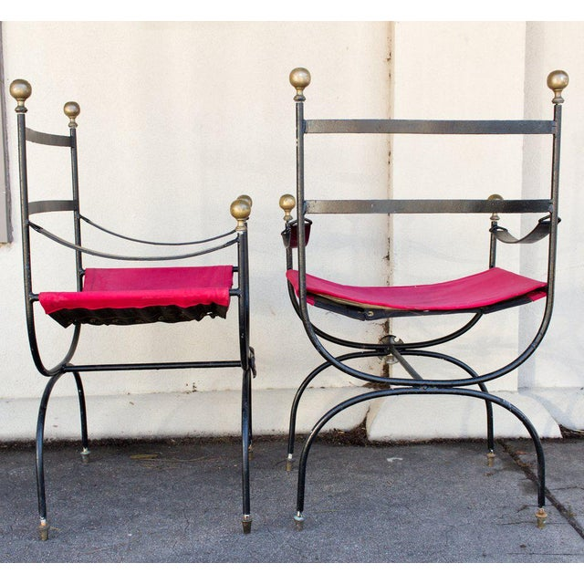 Antique Savonarola Armchairs - A Pair - Image 10 of 11