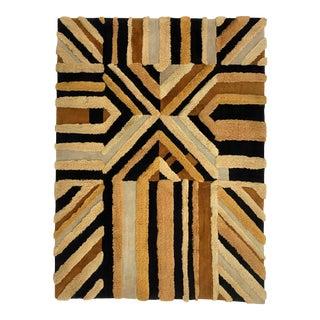 1972 Edward Fields Geometric Wool Area Rug - 7′8″ × 10′1″ For Sale