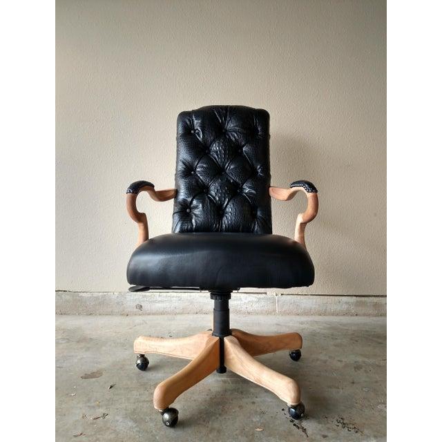 Black Lambskin Detroit Johnny Chair - Image 2 of 6