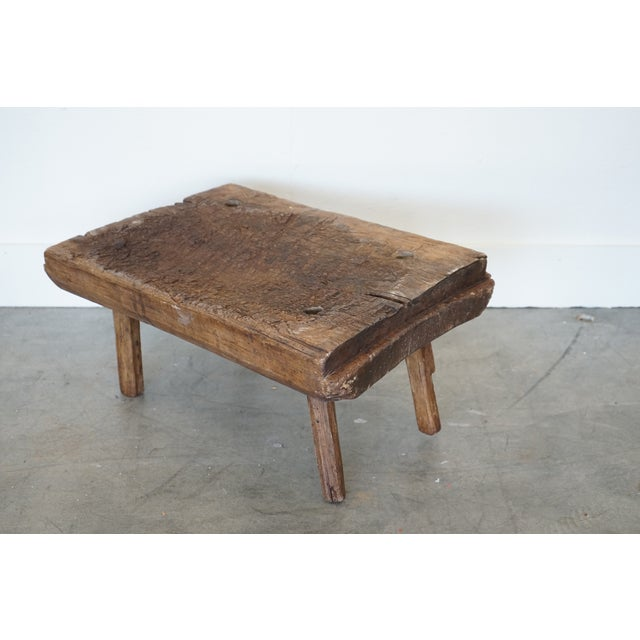 Late 19th Century Small Primitive Wooden Table For Sale - Image 5 of 10