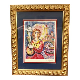 Zamy Steynovitz Eastern European Hand Signed Print in Frame For Sale