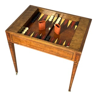 Mid-20th Century Tric-Trac or Backgammon Table by Baker For Sale