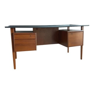 Danish Mid-Century Teak Desk by Peter Løvig Nielsen For Sale