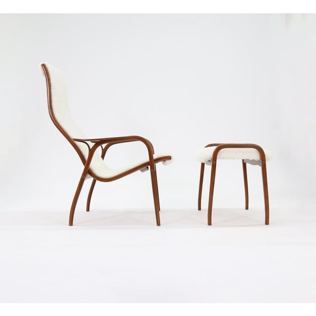 Mid-Century Modern Vintage Yngve Ekstrom for Swedese Lamino Chair and Ottoman For Sale - Image 3 of 13