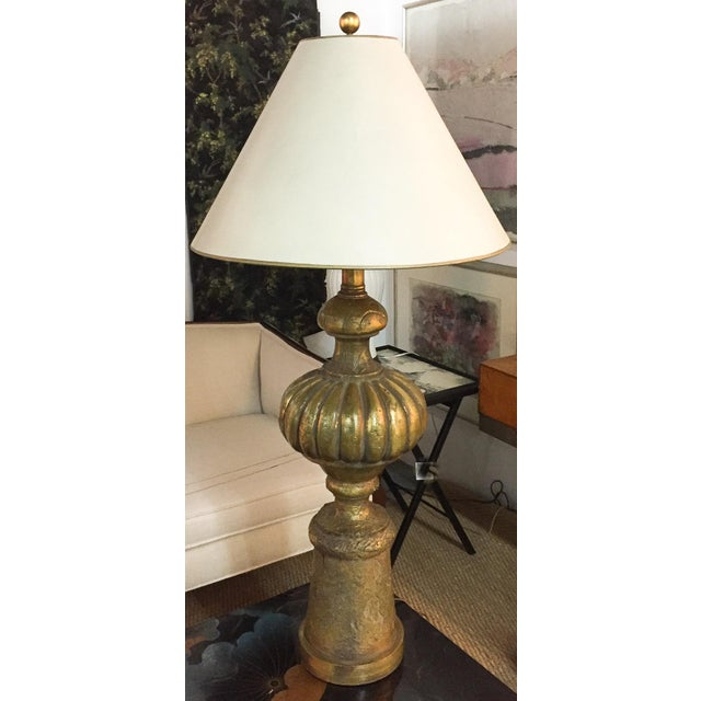 """The size of this mid century lamp is tremendous. Standing at 45"""" H with it's shade. And it's visual statements are huge as..."""