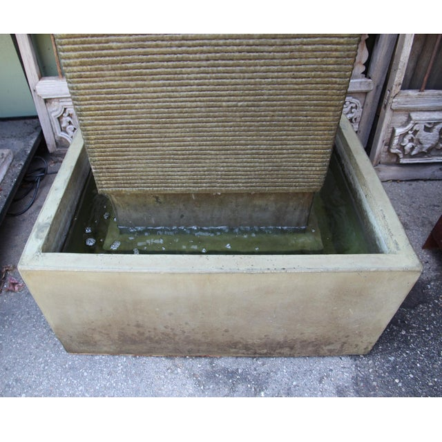 Contemporary Green Cement Ripple Fountain For Sale - Image 3 of 4