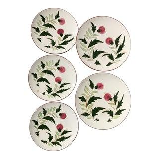 Vintage Mid-Century Modern Stangl Thistle Plates - Set of 5