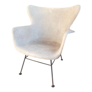 1960s Vintage Lawrence Peabody for Selig Wingback Fiberglass Chair For Sale