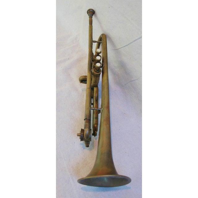 Antique Brass Trumpet Horn - Image 7 of 8