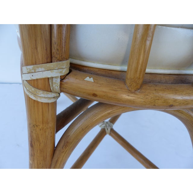 McGuire Rattan Dining Chairs - Set of 6 - Image 2 of 10