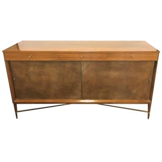 Mid-Century Modern Paul McCobb for Calvin Credenza Original Tags Polished For Sale